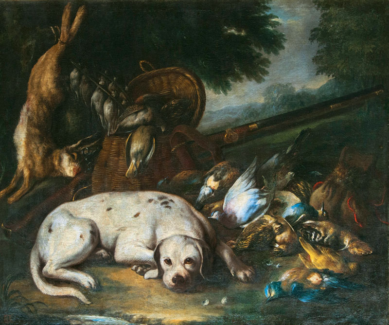 Hunting Still Life with Dog