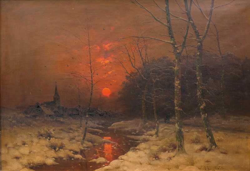 Winterlandscape with Sunset