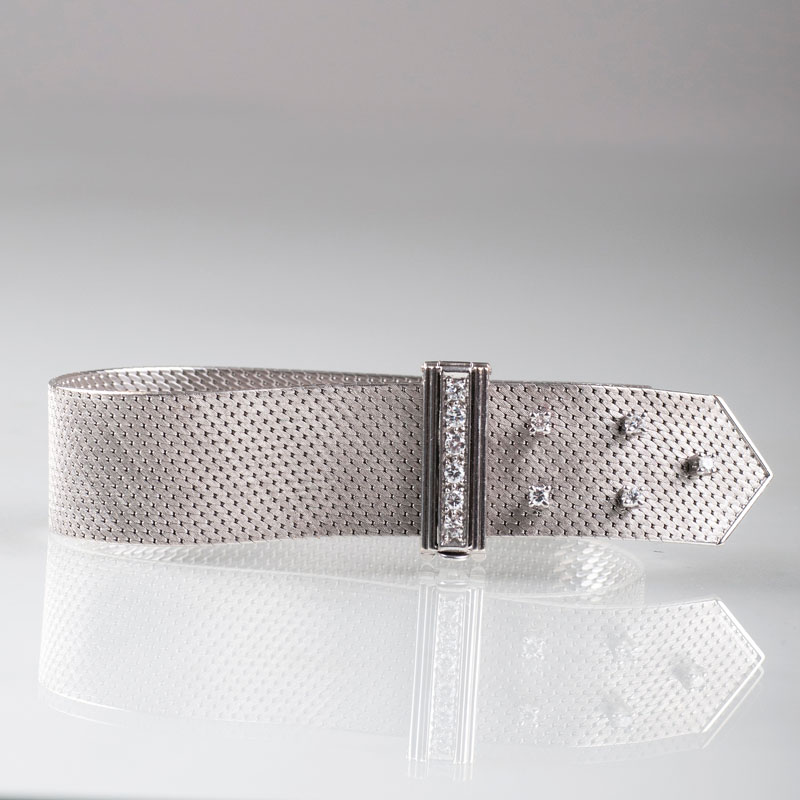 Armband in Schnallen-Optik mit Brillant-Besatz
