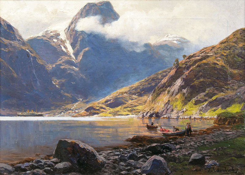 In the Naeroefjord