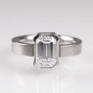 An exceptional white solitaire diamond ring