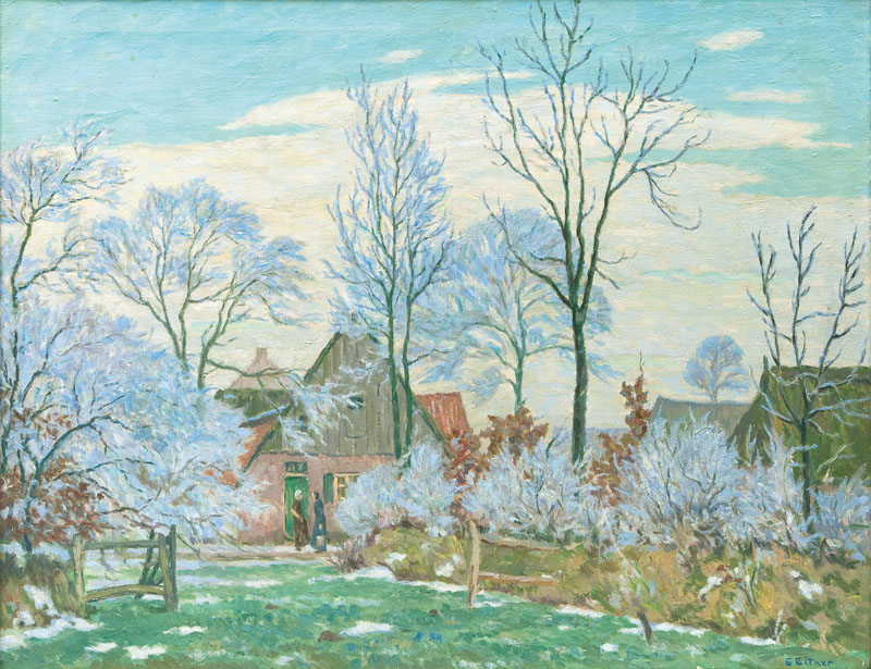 Village in Hoarfrost