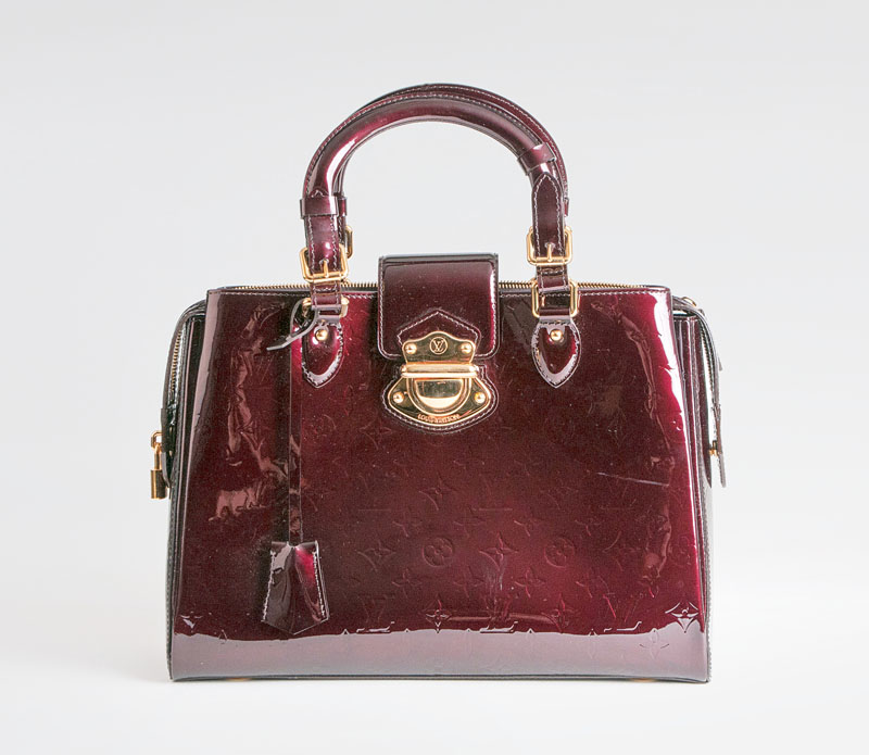 A Monogram bag 'Vernis Melrose Avenue Bag', Amarante