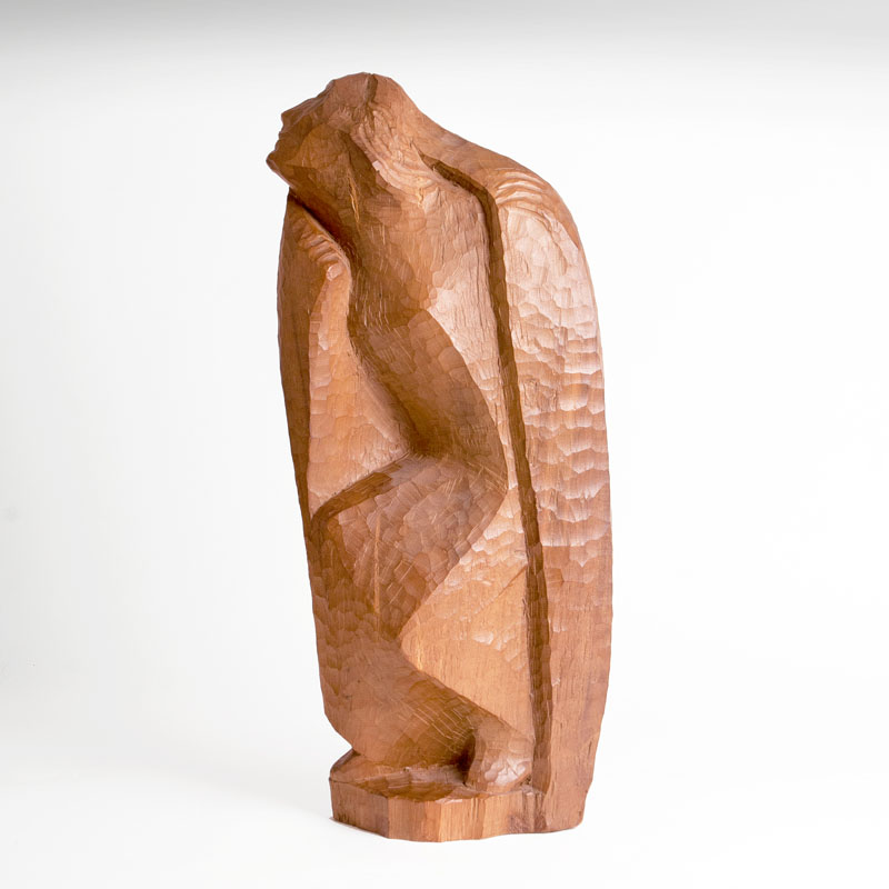 A wooden sculpture 'Lost in dreams'