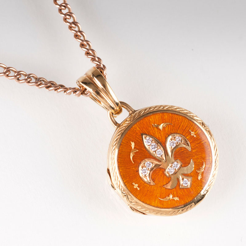A diamond enamel amulet pendant by Victor Mayer for Fabergé