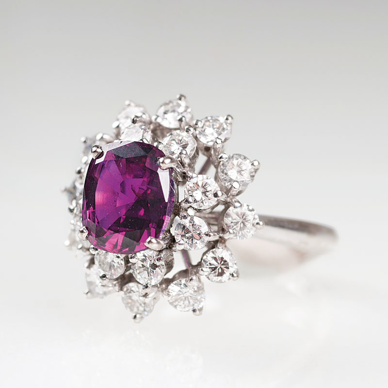 A ruby diamond ring