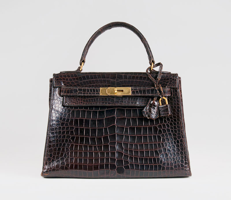 Vintage 'Kelly Bag 28' Havane