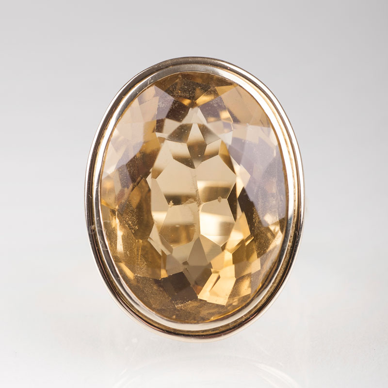 A large citrine ring