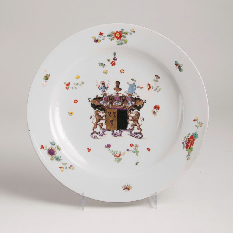A plate with a coat of arms of the Seydewitz family