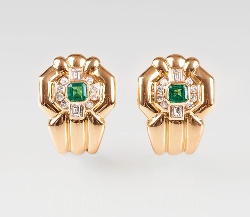 A pair of Vintage diamond earrings