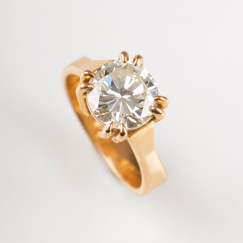 A highcarat solitaire ring