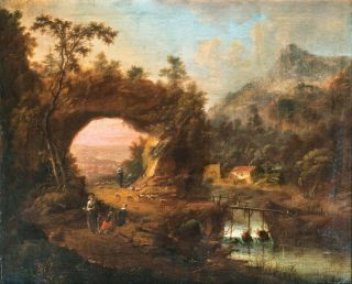 Landscape with Herdsmen by a River