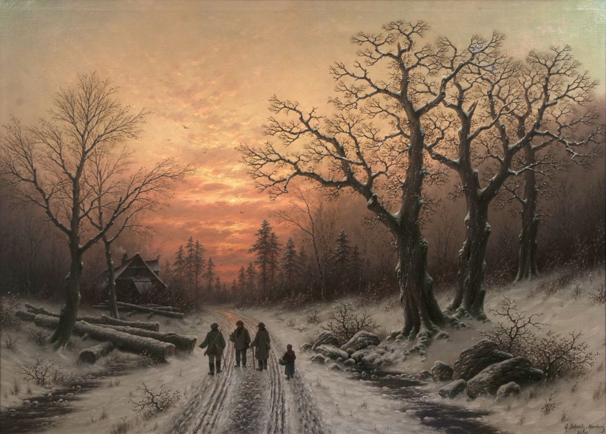Evening in a Winterly Forest