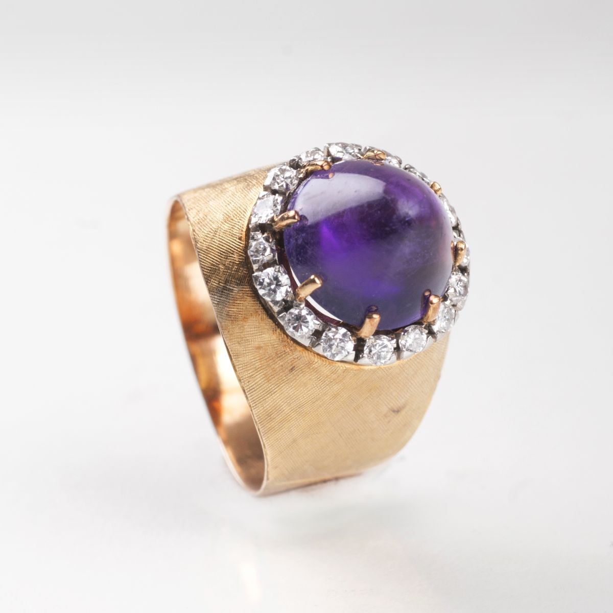 Vintage Amethyst-Brillant-Ring