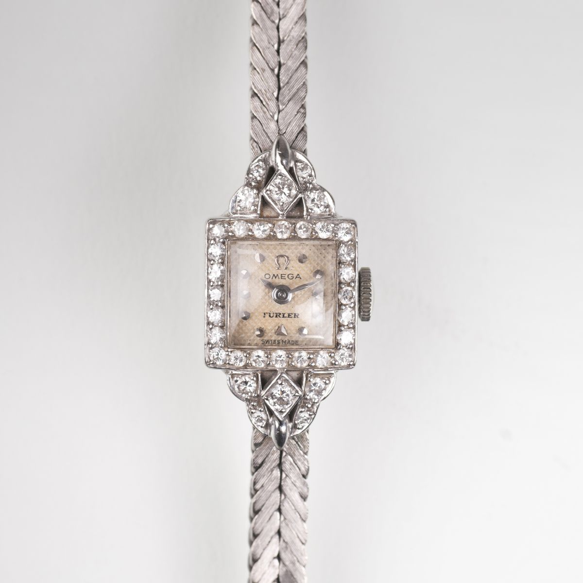 A Vintage ladie's watch with diamonds by Türler