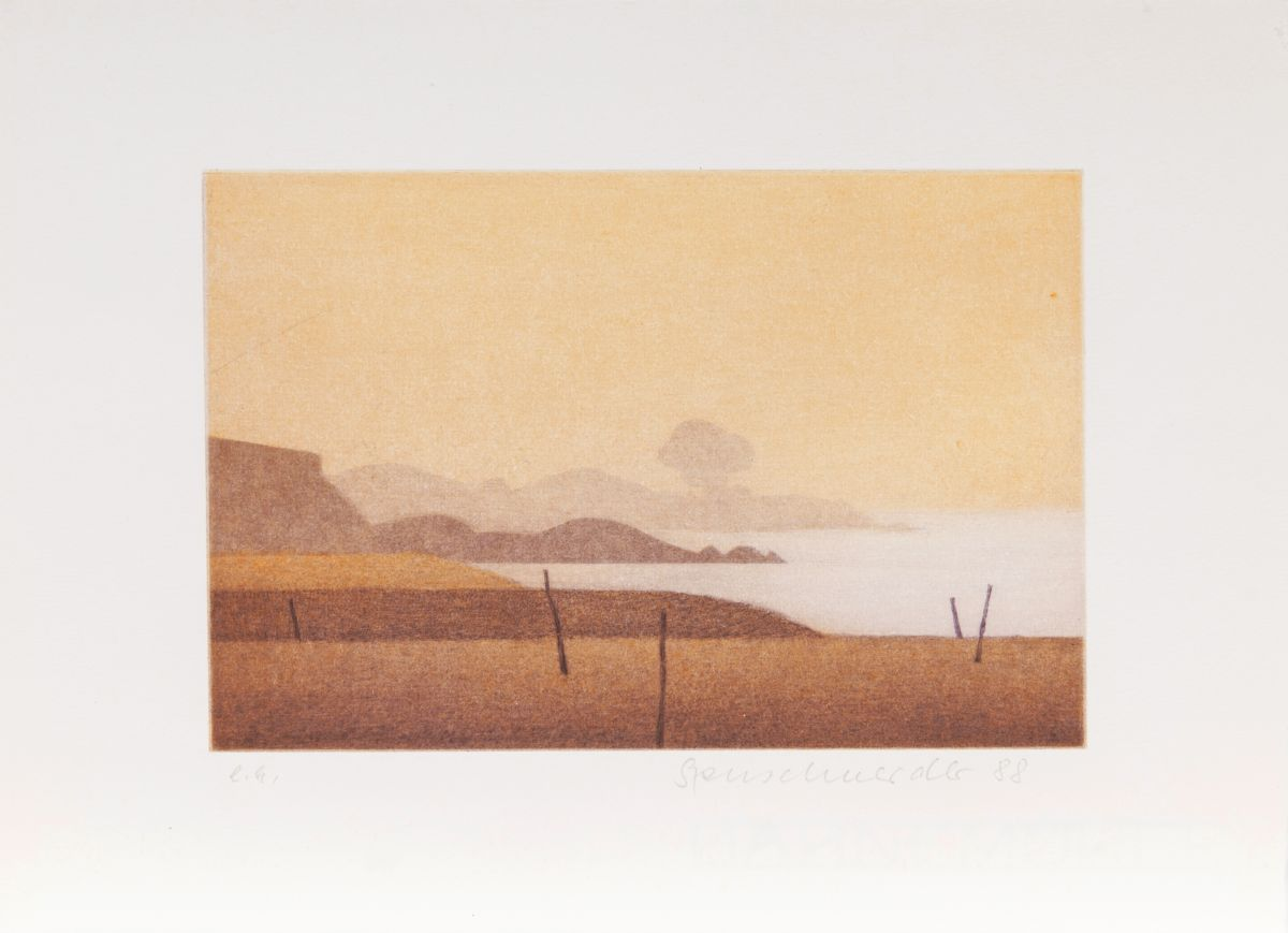 Four Prints with Landscapes and Bathers
