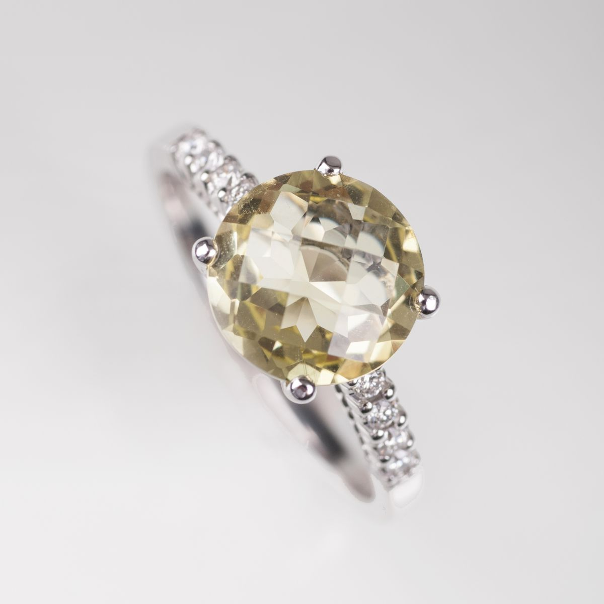Lemon-Citrin-Ring mit Brillanten