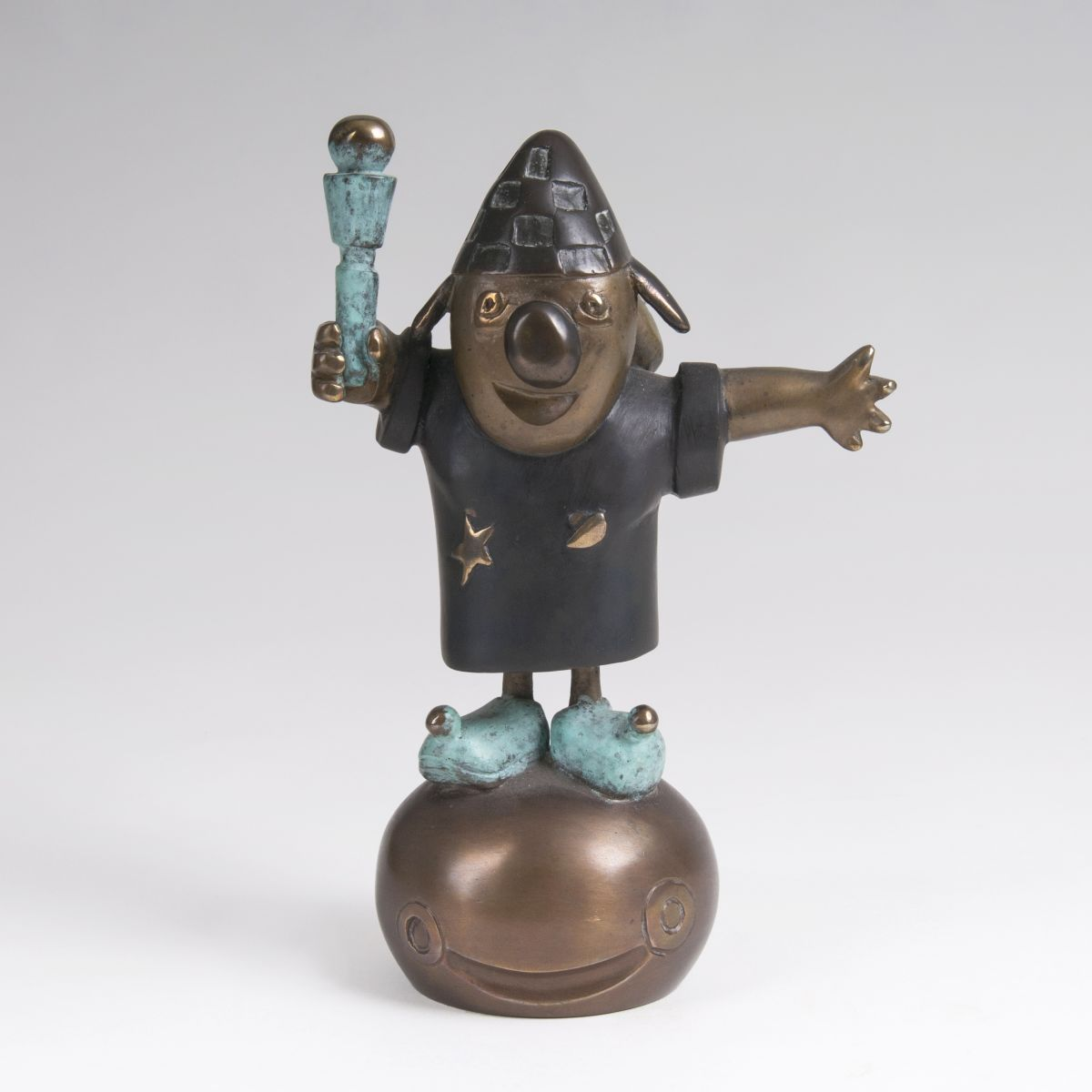 Bronze-Skulptur 'Clown'
