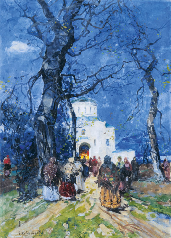 Going to Church in Early Spring