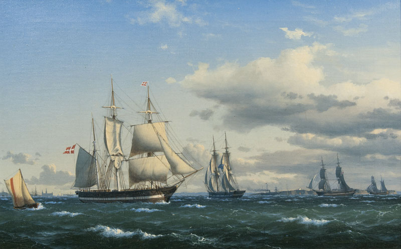 Danish Ships and an English Ship