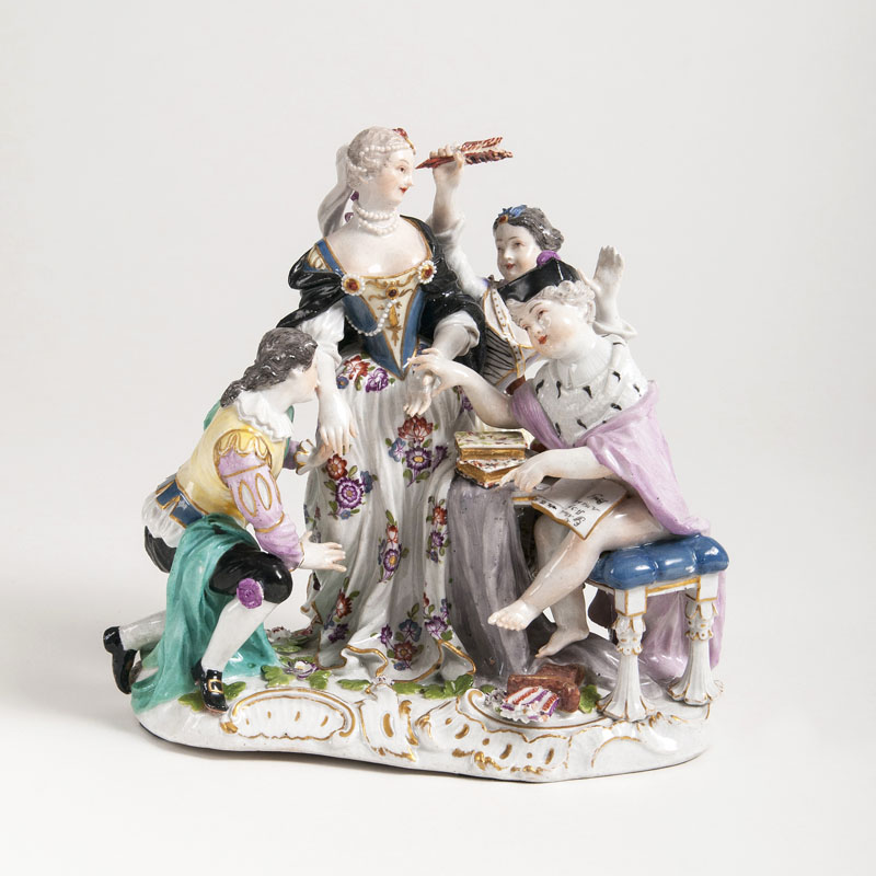 A Porcelain Genre group 'Cupid as a Doctor'