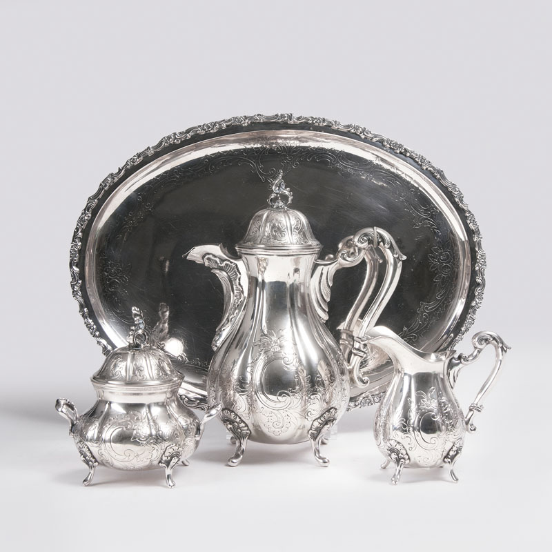 A coffee set in a baroque style
