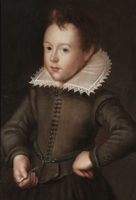 Portrait of a Boy with a brown and a blue Eye