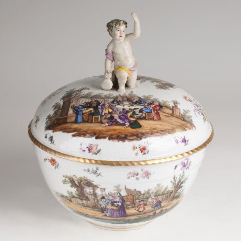A Magnificent Berlin Tureen with Scenes after Hogarth
