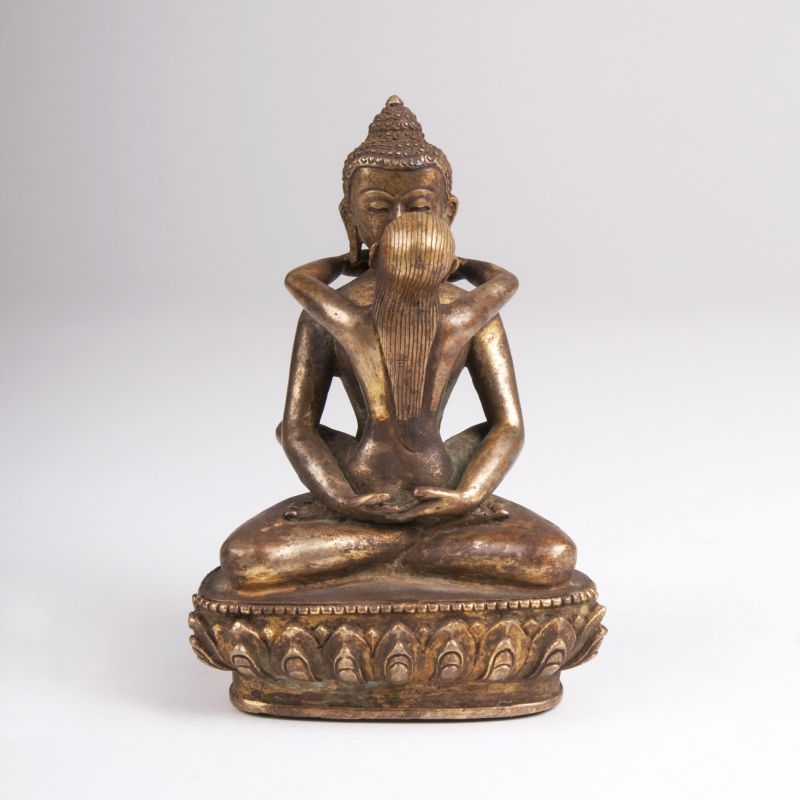 A Bronze Sculpture 'Samantabhadra'