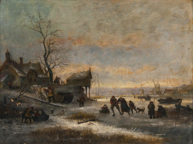 Busy Winter Landscape