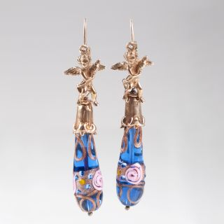 A pair of Murano earpendants