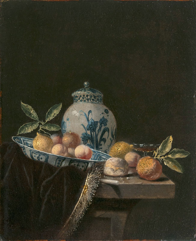 Still Life with Wanli Bowl and Fruits