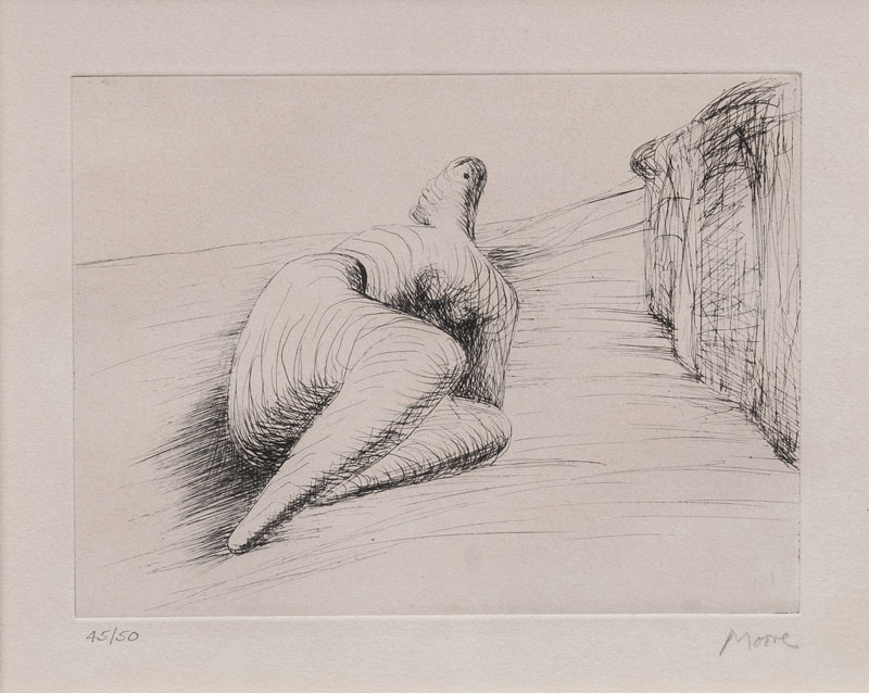 Curved reclining Figure in Landscape II