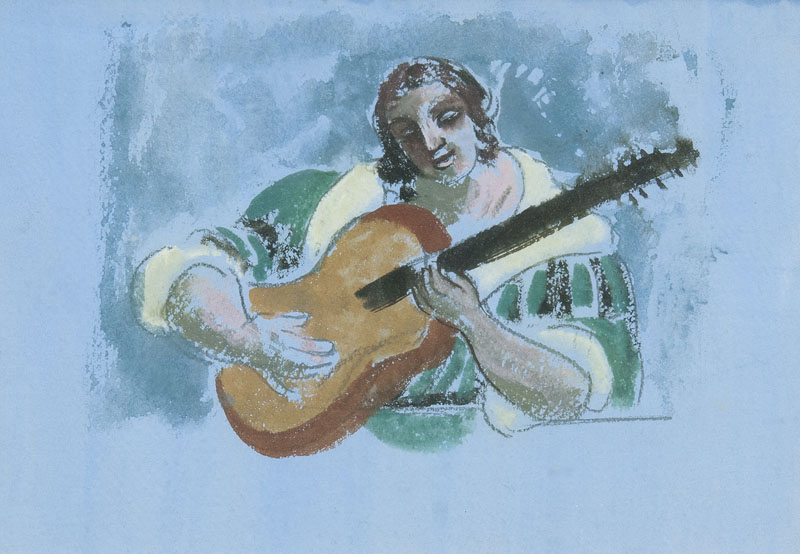 Lady with Guitar