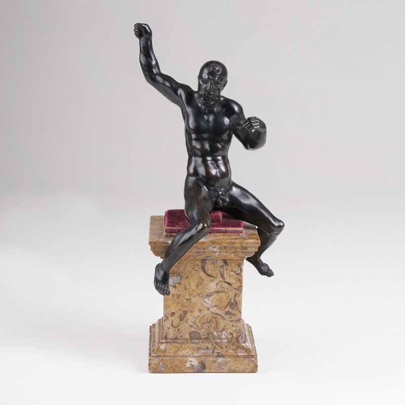 A Museum-Like Statuette 'Naked Riding Male'