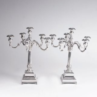 A Pair of Candelabra in a Classicistic Style