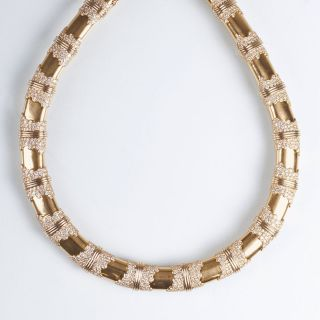 An early Paris Vintage gold diamond necklace