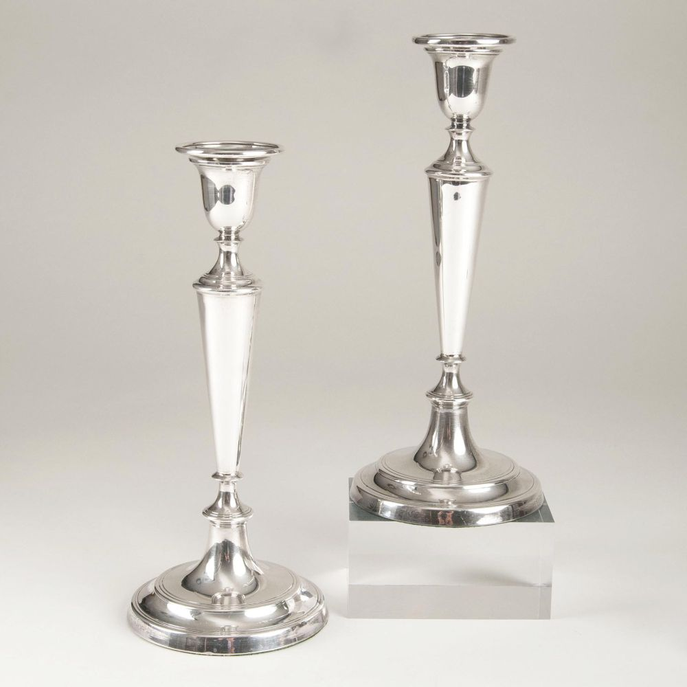 A Pair of English Candlesticks