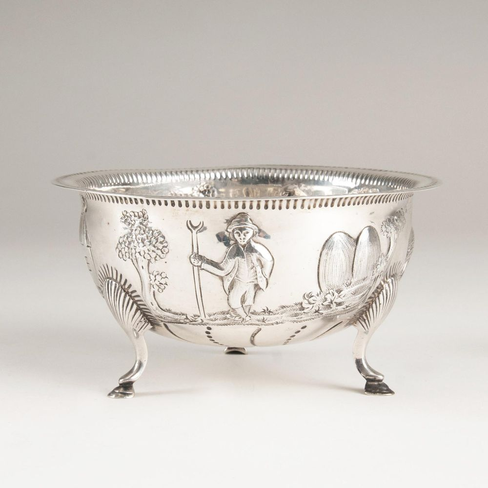 An Irish Bowl with a Relief-Scenery