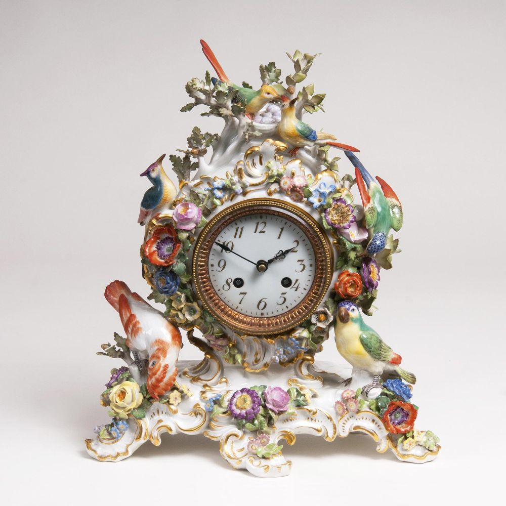 A Small Mantle Clock with Birds