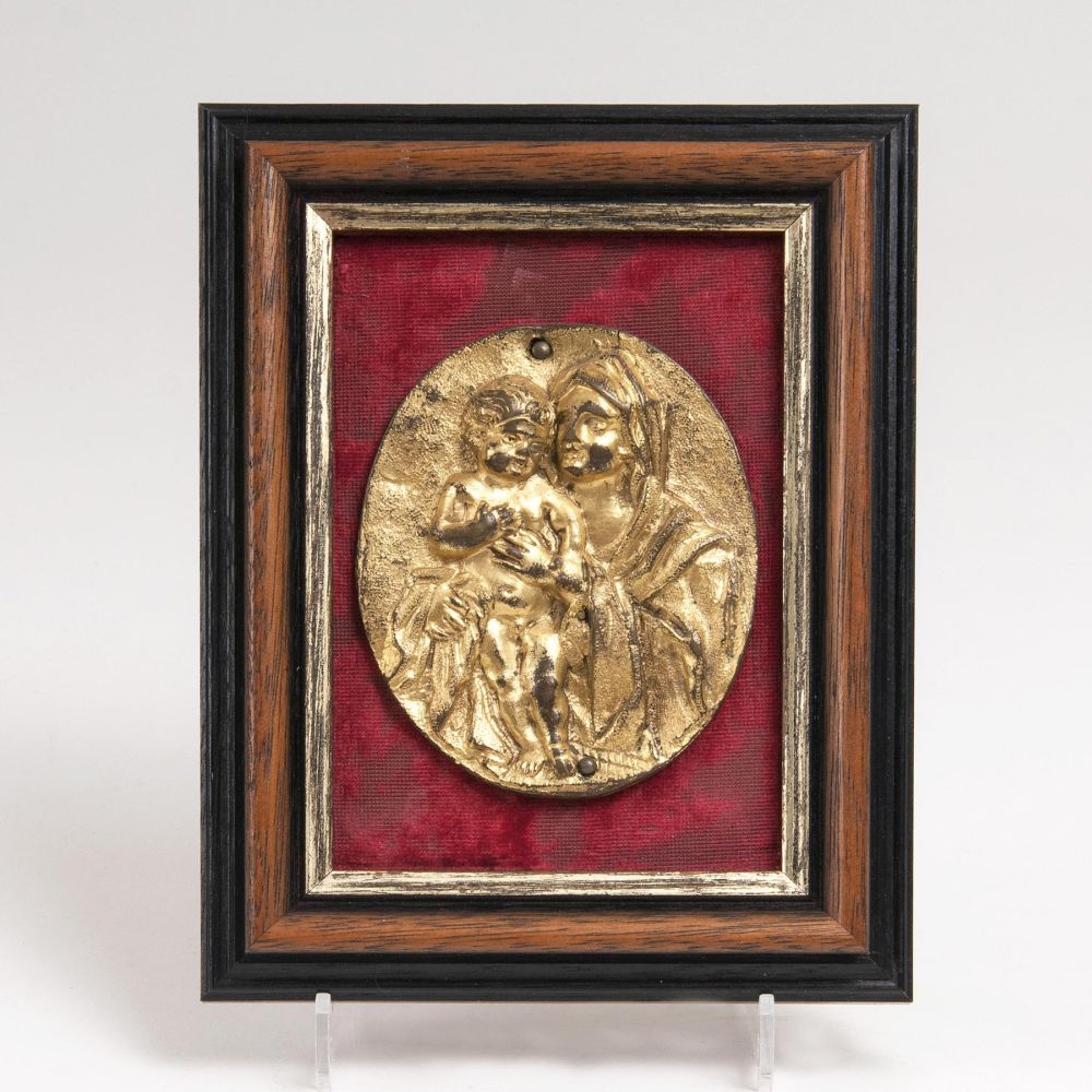 A Baroque Plaque 'Mary with Child'