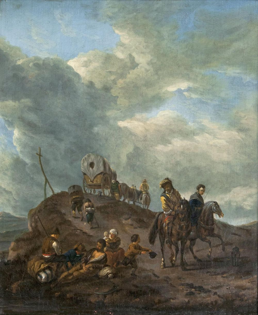 Carriage and Riders on a Mountain Top
