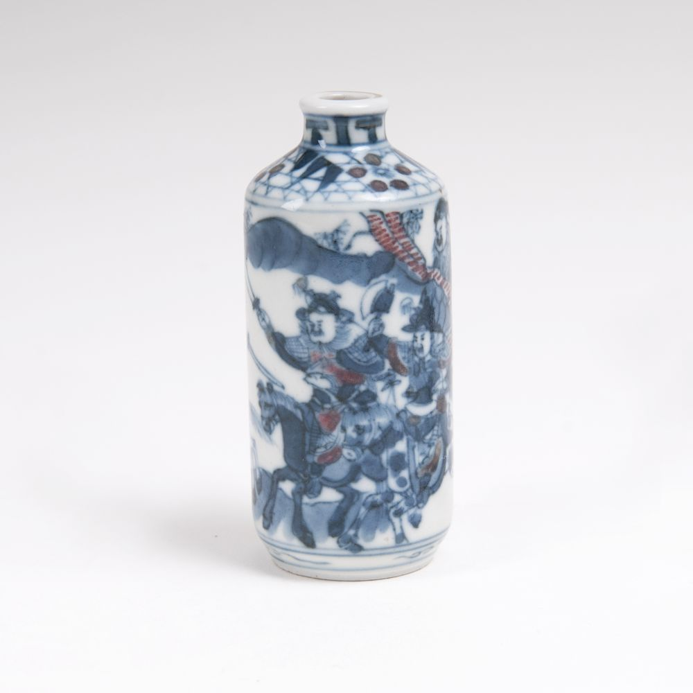 A Snuffbottle with Fighting Riders