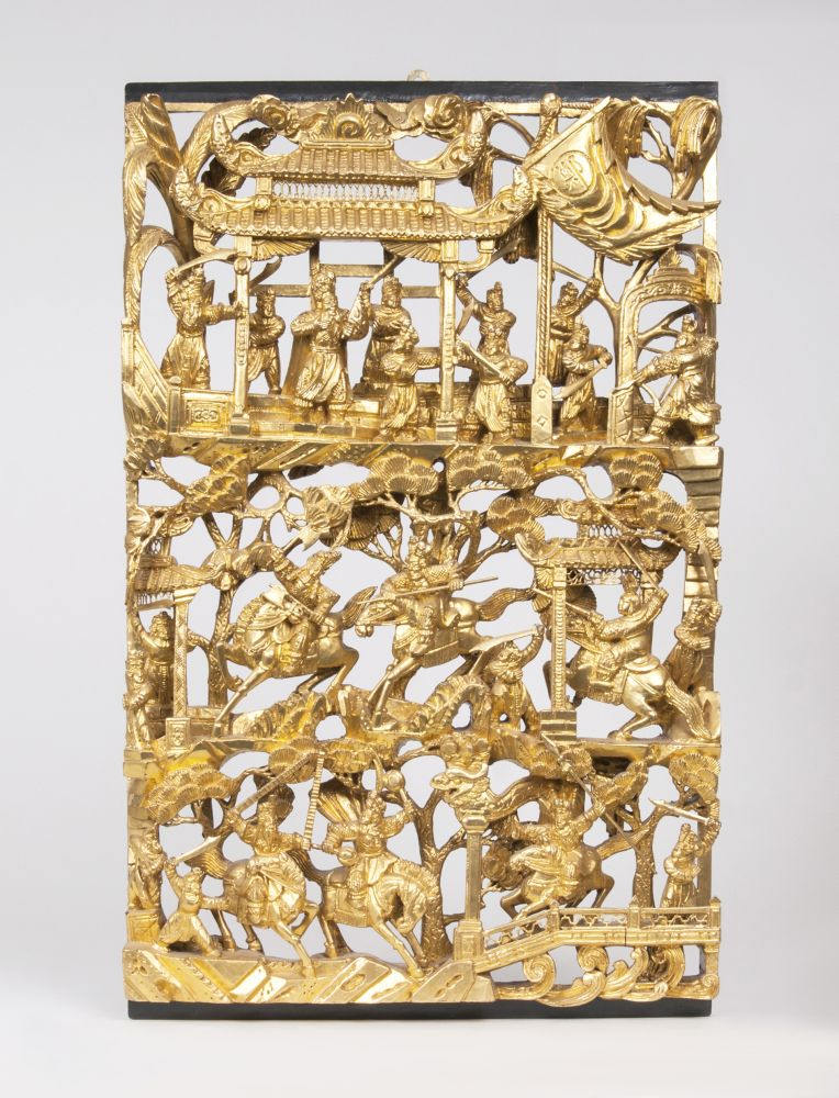 A Decoratif Multifigured Carving with Battle Scenes
