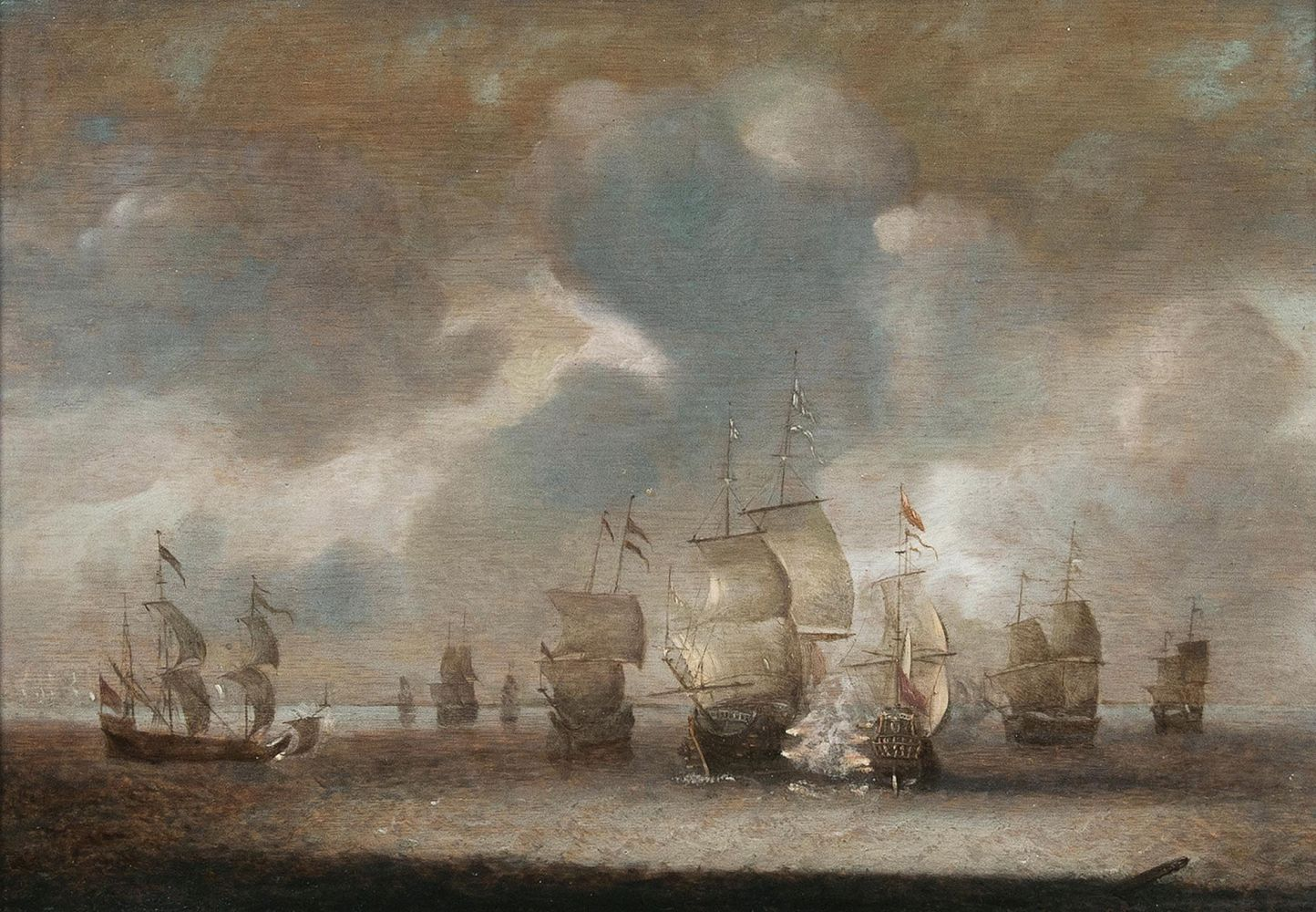Naval Battle with English Ships