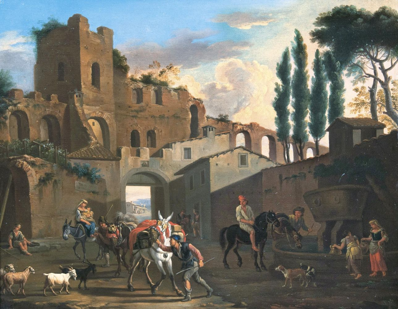 Ruins with Riders and Pack animals