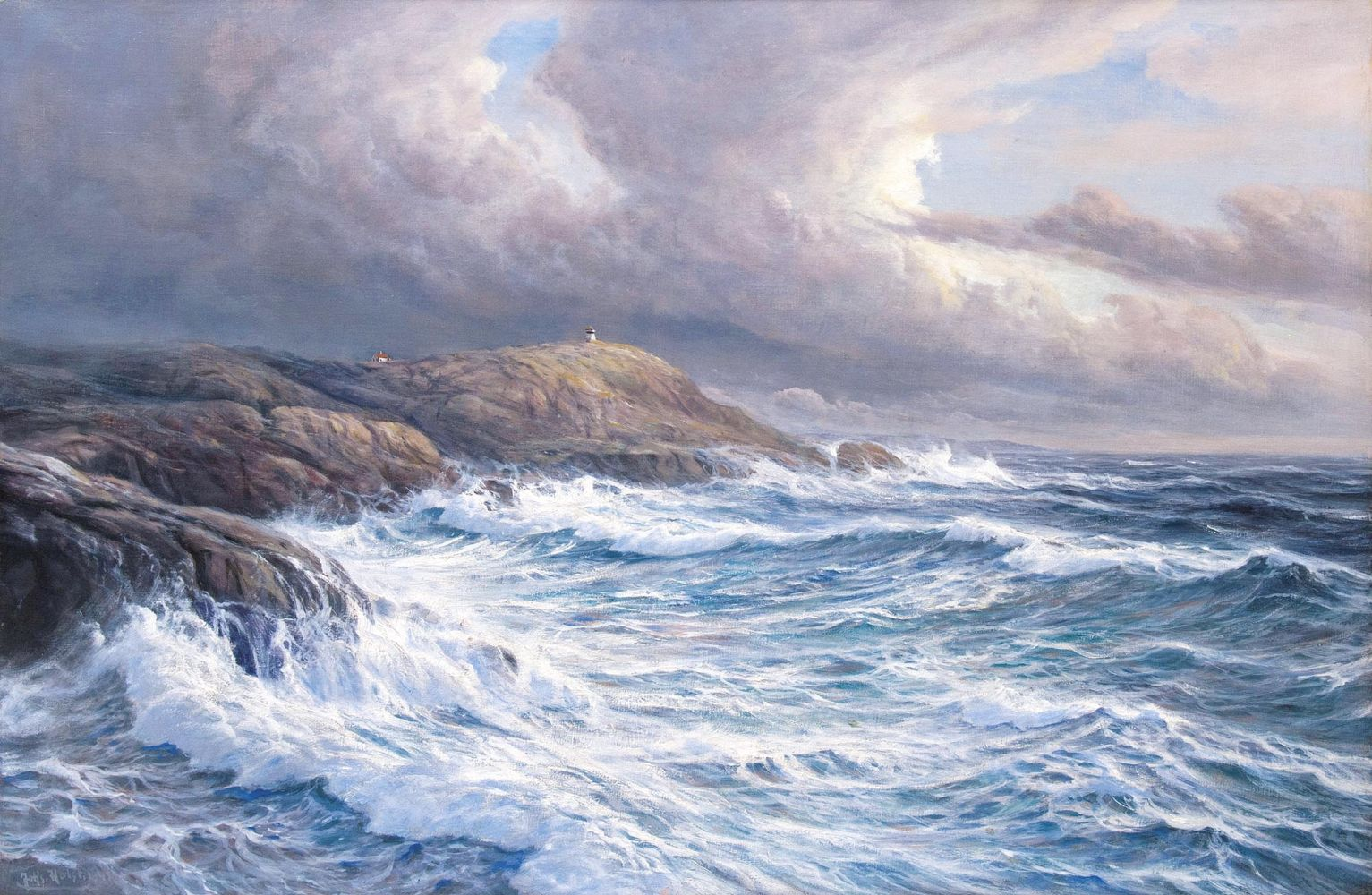 Norwegian coast in the storm