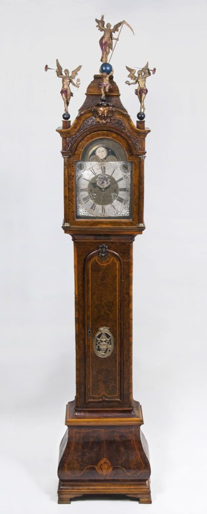 A large Dutch Long Case Clock with Carillon