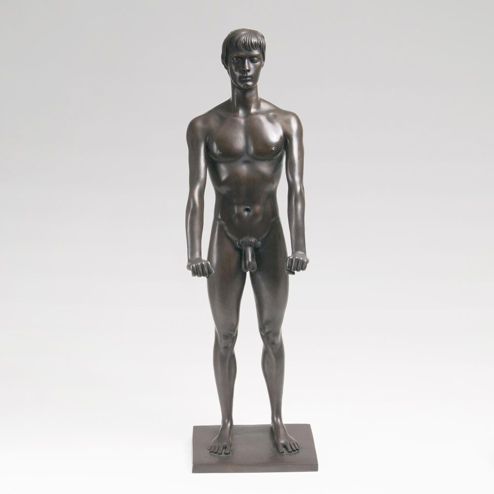 A Sculpture 'Standing Nude Youth'