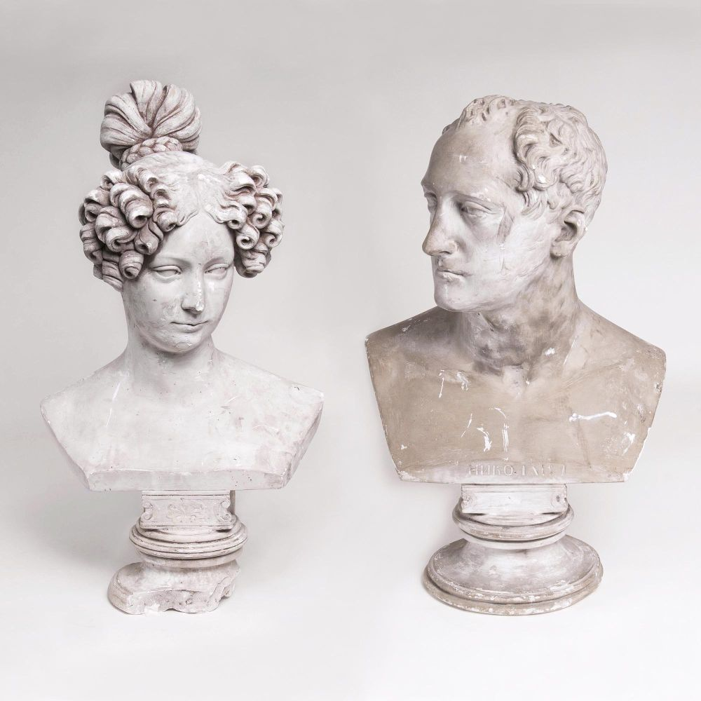 A Pair of Busts 'Emperor Nicolas I' and his Wife 'Emperess Alexandra Fedorovna'